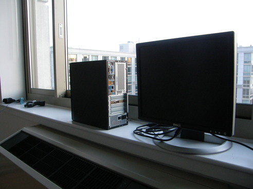 system with monitor